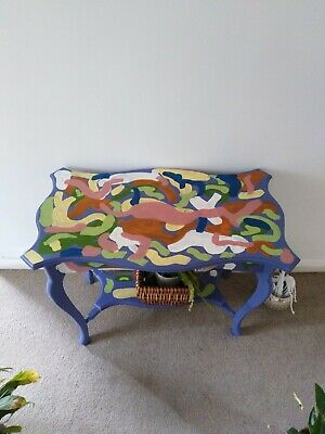 Swinging Sixties Painted Antique Side Table