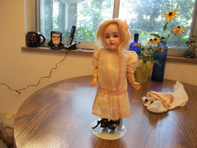 """12""""Sweet Antique German Doll Marked """"B"""" May Be Kestner Original Factory Clothes"""