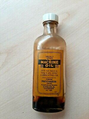 Vintage Refined Machine Oil bottle from Pritchards Ltd Manufacturing Chemists