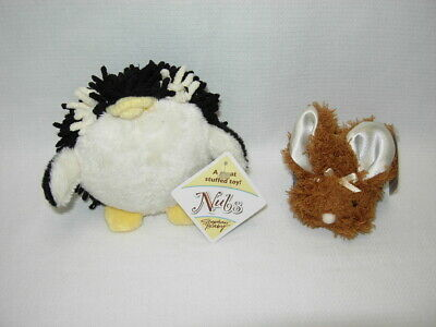 Stephan Baby NUBS PENGUIN RATTLE and Brown BOO-BUNNIE Ice Pack