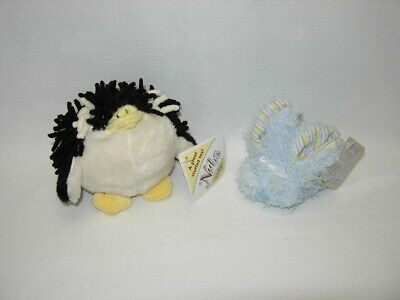 Stephan Baby NUBS PENGUIN RATTLE and Blue BOO-BUNNIE Ice Pack