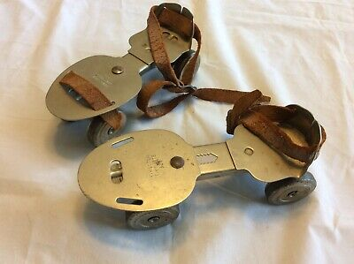Vintage Kingston Tiny-Mite 326 Roller Skates Kokomo Ind. USA adjustable Metal