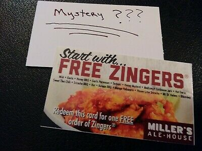 "(1) Miller""s Ale House Voucher+1 Mystery Combo Meal Voucher (No Expiration)"