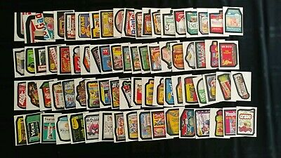 1986 Wacky Packages Album Stickers Complete Set Of 77