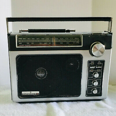 Vintage GE General Electric SUPERADIO II 7-2880A AM FM Long Range Tested Working