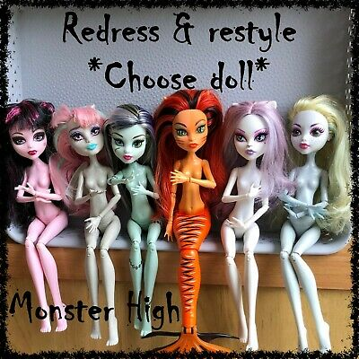 MONSTER HIGH Nude Doll, Redress / Restyle, OOAK ~SELECT DOLL~ 1 incl. (lot 18)