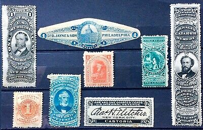 U.S. Stamps.Variety Group Private Die Proprietary Match Medicine Revenues.MM130.