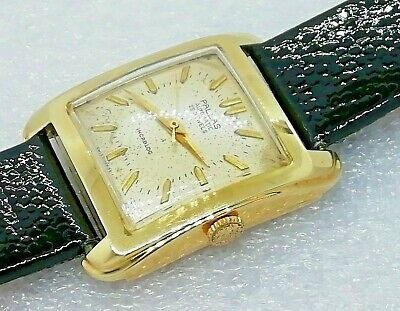 Schwere Pallas Automatik Herrenuhr Gold 585 14k Automatic 25 Jewels Swiss Watch