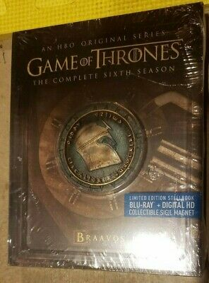 Game of Thrones Season 6 STEELBOOK (BRAAVOS) (Blu-ray/Digital) NEW ULTRA RARE!!