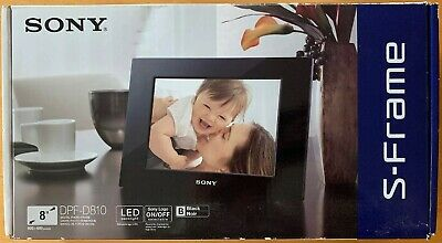 "Sony S-Frame DPF-D810 8"" Digital Picture Frame Led Backlight Black New Photo"