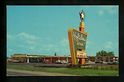 Holiday Inn Motel Hotel Postcard Michigan MI Flint cars Vehicle City