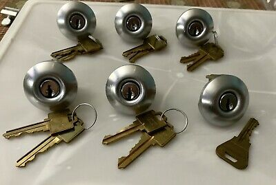 Lot Of 6 Weiser Cylinder Locks W/ Keys