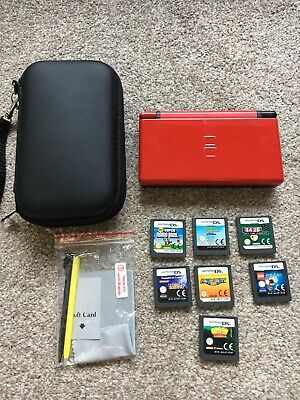 Nintendo DS Lite Console With 7 Games And Case
