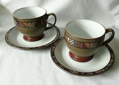 Denby Marrakesh Tea Cups and Saucer x 2 Multiple Available