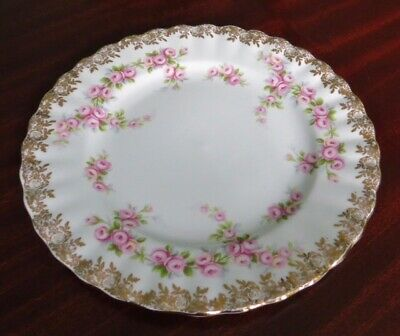 "Royal Albert Fine Bone China ""Dimity Rose"" Side Cake Plate VGC"