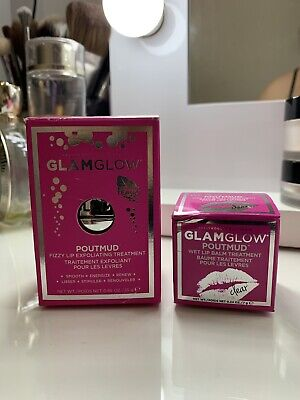 Glam Glow Lip Exfoliating Treatment And Lip Balm Set New
