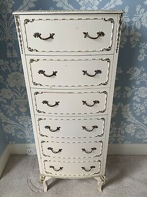 Antique French Louis Tall Boy Chest Of Drawers Rococo