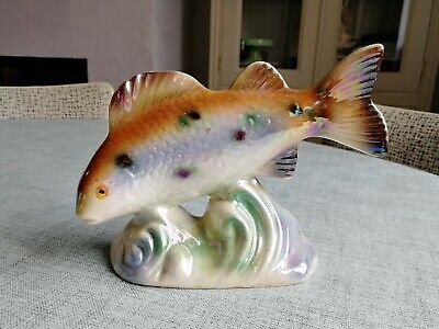 50s/60s Kitsch Vintage Lustre Ware Leaping Fish Possibly trout.