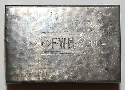 STERLING SILVER MATCH BOX HOLDER monogrammed FWM - for the sport who has it all!