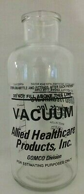 Allied Healthcare Gomco Vacuum Aspiration Collection 600 ml. Bottle Jar