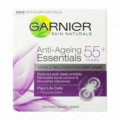 Garnier Anti-Aging Essentials Daily Care Day Cream (Peptides) 55+ 50ml Sealed