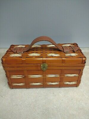 Vintage 50's 60's Dormar Bags Woven Reed Box Purse