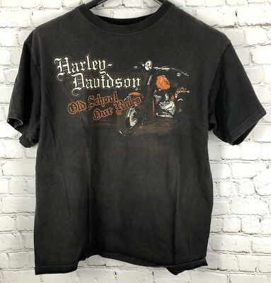 """Harley Davidson """"Old School Our Rules"""" T-shirt Mens Size Large 2012"""