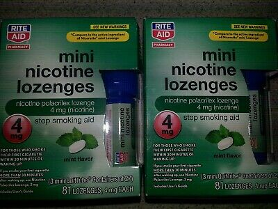 2 New Boxes Rite Aid Mini Nicotine Lozenges 162 Total Exp 2020
