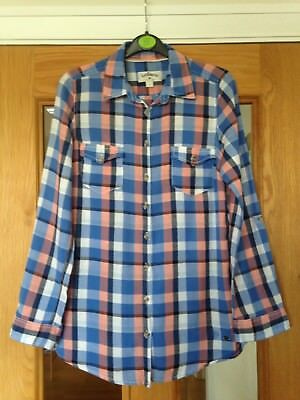 Ladies Check Shirt By Lee Cooper Size 8