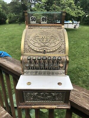 Antique Brass National Cash Register Model 312 Candy Store Barber  NCR