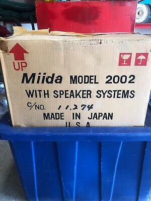 Miida Model 2002 Solid State AM FM Stereo Receiver W 8 Track Player Mint Unused