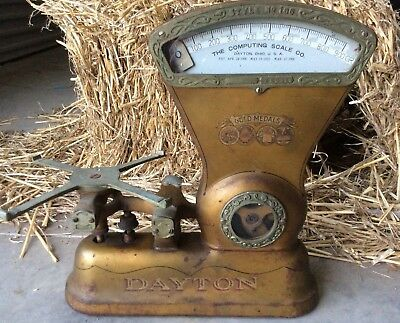 DAYTON No.166 - Antique Collectable Scale used for Tobacco, Grocery & or Coffee