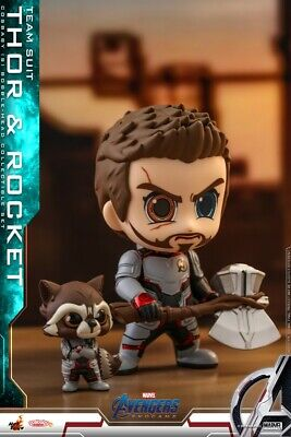 Hot Toys Thor+Rocket Raccoon Cosbaby Bobble-Head Dolls Avengers:Endgame Figures