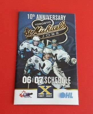 2006/07 OHL Defunct Toronto St. Michaels Majors Schedule***10th Anniversary***