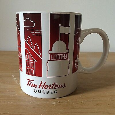 Tim Hortons Quebec 2016 Travellers Collection Cup Series 1 Coffee Mug White Red
