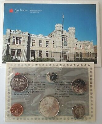 1987 RCM Proof Like Set Coins Canada Sealed in Plastic with Envelope & COA