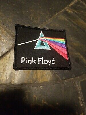 "Pink Floyd 2 1//2/"" Embroidered Dark Side of the Moon Iron On Patch Prog Rock"