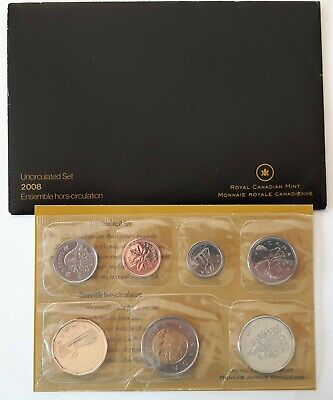 **RARE 2008 Double 8 on Penny in RCM Proof Like Set Canada  with Envelope & COA