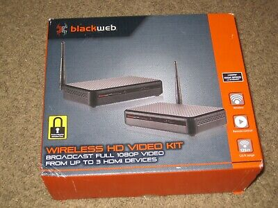 Blackweb Wireless HD 1080P Video Kit Up To 3 HDMI Devices W/Activation Code!