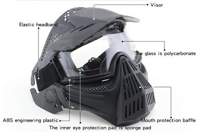 Half Face Mask Airsoft Eye Protective Riding Face Guard Tactical Games Mask