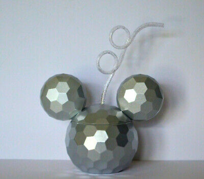 Disney Parks Mickey Mouse Epcot Spaceship Earth Sipper Cup with Straw NEW