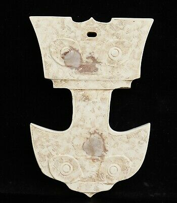 Chinese Exquisite Hand-carved Hetian jade Pendant