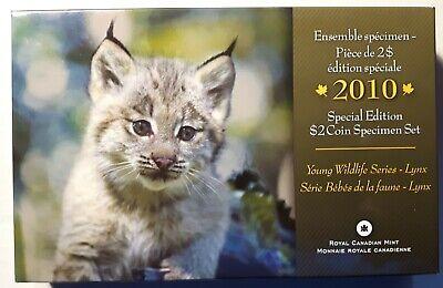 2010 Special Edition RCM CANADA Specimen Set with LYNX Toonie Two Dollar Coin
