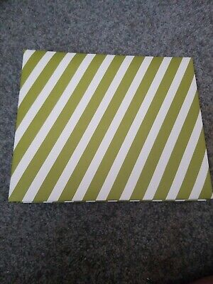 STAMPIN' UP! Retired Seasonal Stripes 8x8 Scrapbook Album w/sheets Green White