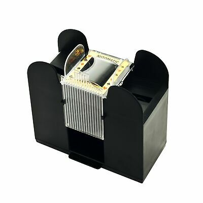 Playing Card Shuffler Automatic Battery Operated 6 Deck Casino Dealer Travel ...