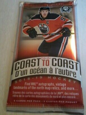 2018 19 1 Unopened Pack Coast To Coast Opc Canadian Tire Hockey Cards Upper Deck