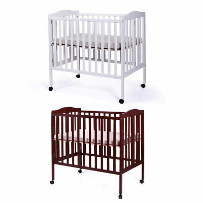 Pine Convertible Baby Bed Nursery Toddler Crib Infant Newborn Crib W/Mattress