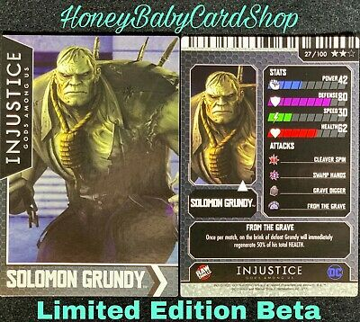 Injustice Arcade Limited Edition Beta Card 100 Zod Out of Print