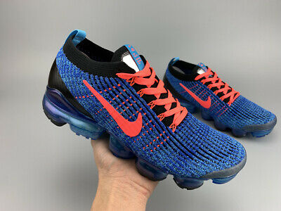NIKE AIR VaporMax Flyknit 3  2019  Men's(Blue) Running Trainers Shoes Sneakers