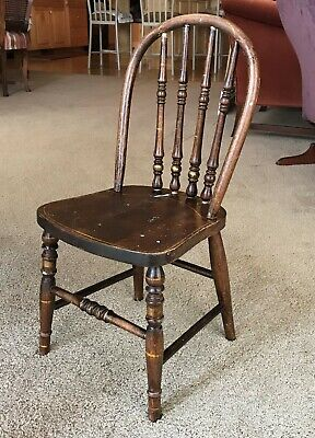 Vintage Antique Childrens Windsor Bentwood Chairs Ex Cond. ~ Very Fine Set of 2